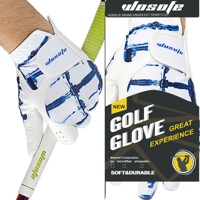 Golf Gloves Men's Left  Hand Soft Breathable Pure Sheepskin Golf Gloves Golf accessories Free Shipping