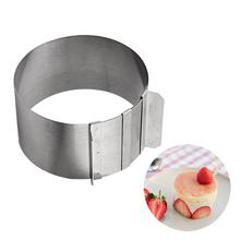 Stainless Steel Circular Mousse Ring Adjustable Mousse Cake Cookie Mould Small Pastry Decoration Mold Kitchen Essential Bakeware
