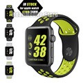 Light Flexible Breathable Silicone Sport Band for Apple Watch Series 1&2 42MM 38MM,for Apple Watch Band Black Volt Band