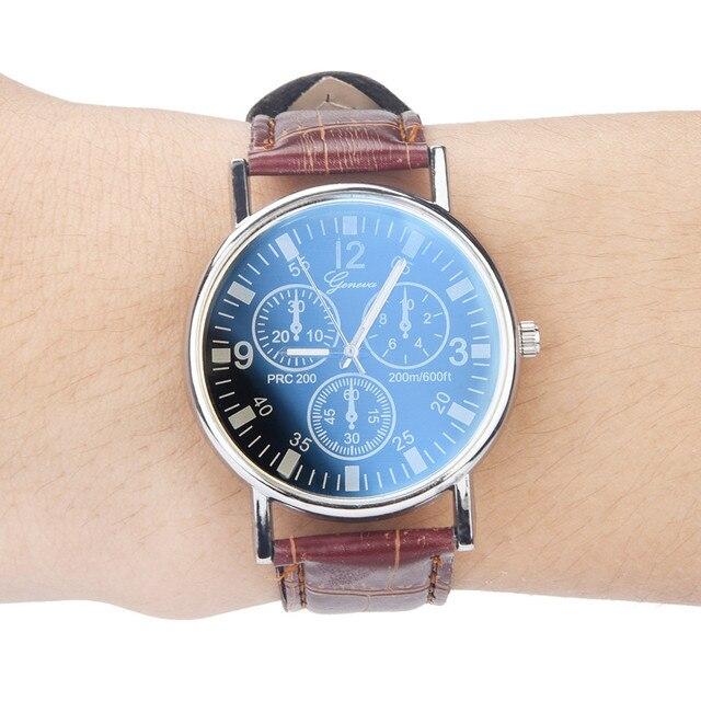 GEMIXI Fashion And New Blu Ray Glass Watch Neutral Quartz Simulates The Wrist Wa