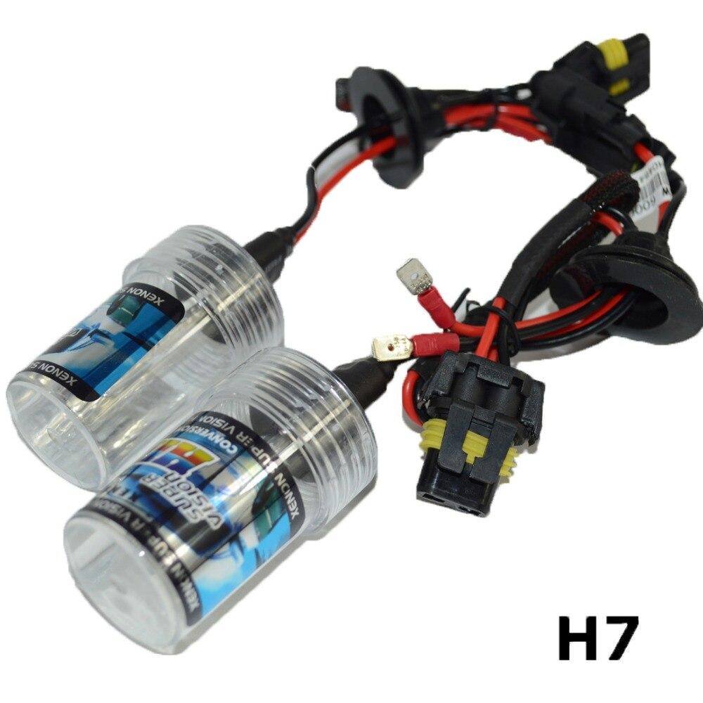 Pair hid xenon headlight bulbs repacement DC 12V 35w H1 H3 H4 h7 H8 H9 H11 9005 9006 HB3 HB4 9004 7 6000k auto lights lamp
