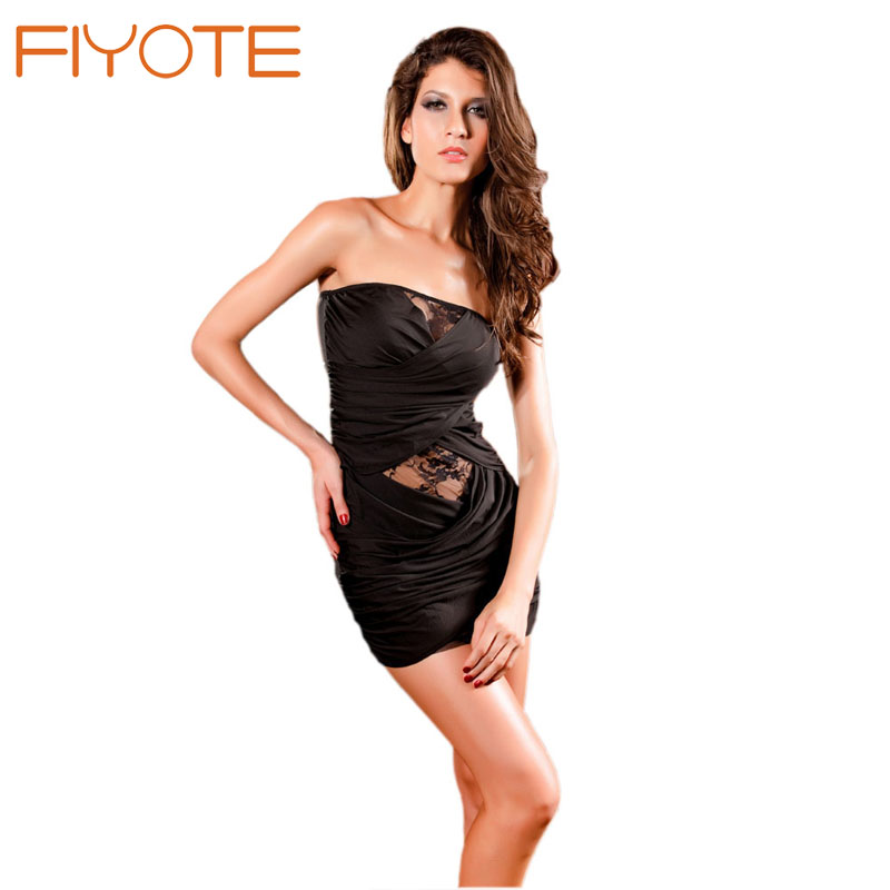c2b9f0150b3c FIYOTE Wholesale Sexy Tube Mini Dress Strapless Conga Blue / Black / Red  LC2416 Cheaper price + Cheap + Drop Shipping work wear-in Babydolls &  Chemises from ...