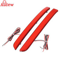 2Pcs Car Red Rear Bumper Reflector LED Tail Stop Brake Light For VW Transporter T5 12