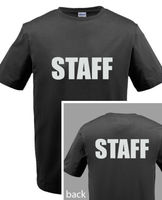 VEILIGHEID POLITIE PERSONEEL t-shirt mannen Custom Screen Gedrukt Op Front & Back T-shirt ONS standaard plus size S-3XL