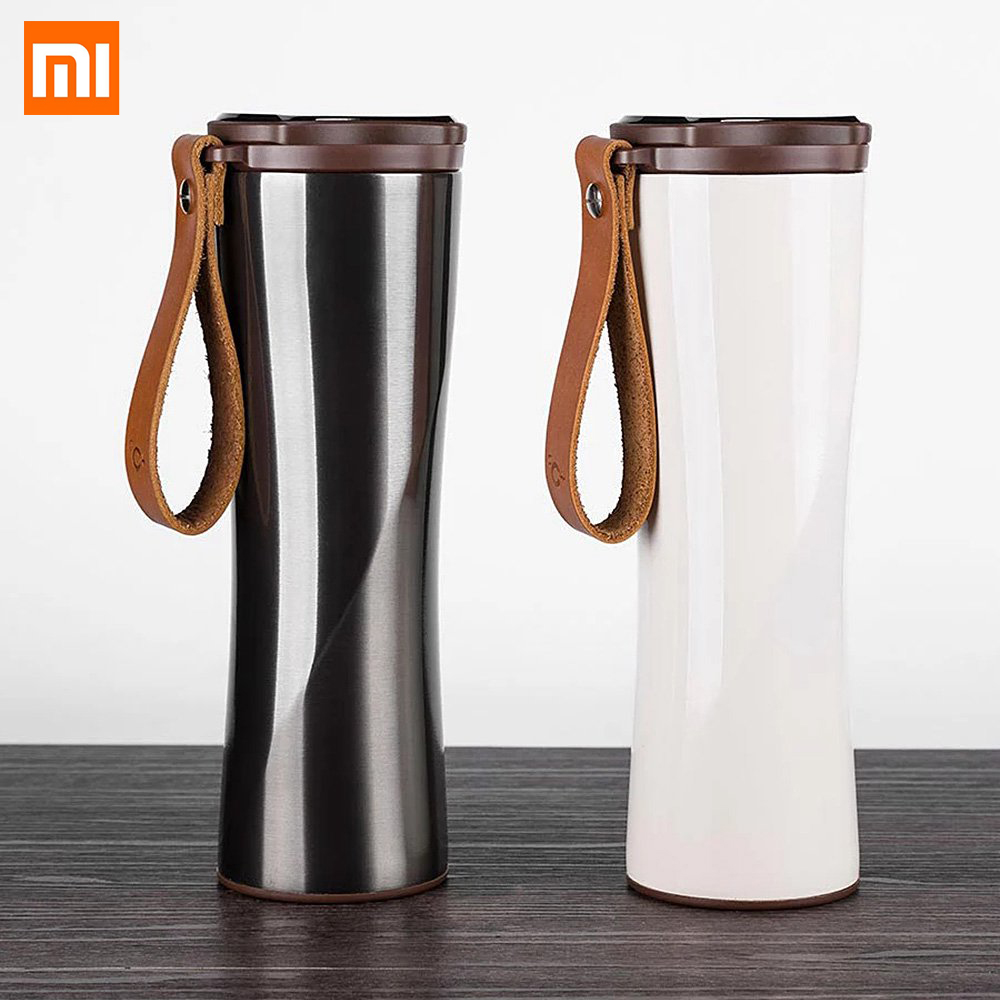 Original Xiaomi Mijia Kiss Fish Smart Vacuum Bottle 430ML Keep Warm Cold OLED Temperature Display Light Smart Cup Certified updated xiaomi kiss kiss fish 525ml function cook egg tea nutrition cup with oled temperature screen stainless steel vacuum cup