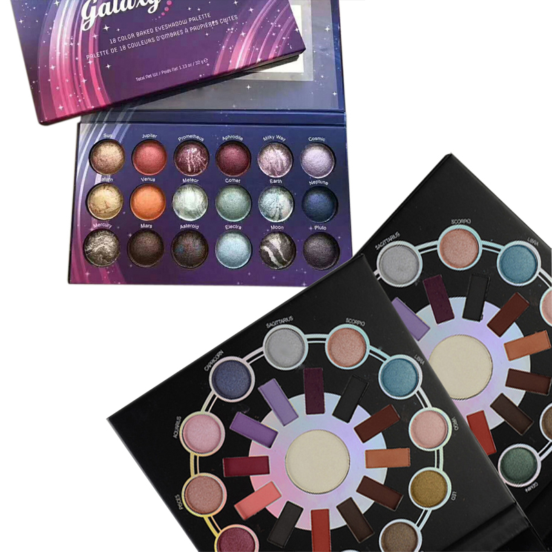 18/25 Color Matte Shimmer Baked Powder Eyeshadow Palette Smoky Shining Starry Sky Eye Shadow New Brand