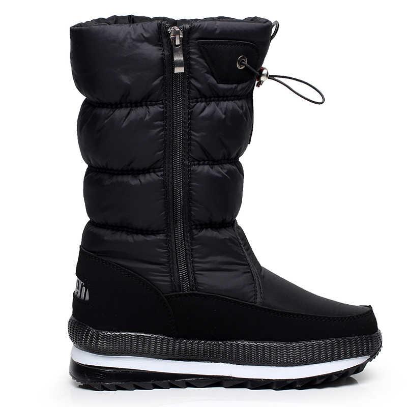 ผู้หญิงหิมะรองเท้าบูทแพลตฟอร์มฤดูหนาวหนา Plush กันน้ำลื่นรองเท้าแฟชั่นรองเท้าผู้หญิงฤดูหนาว WARM botas mujer