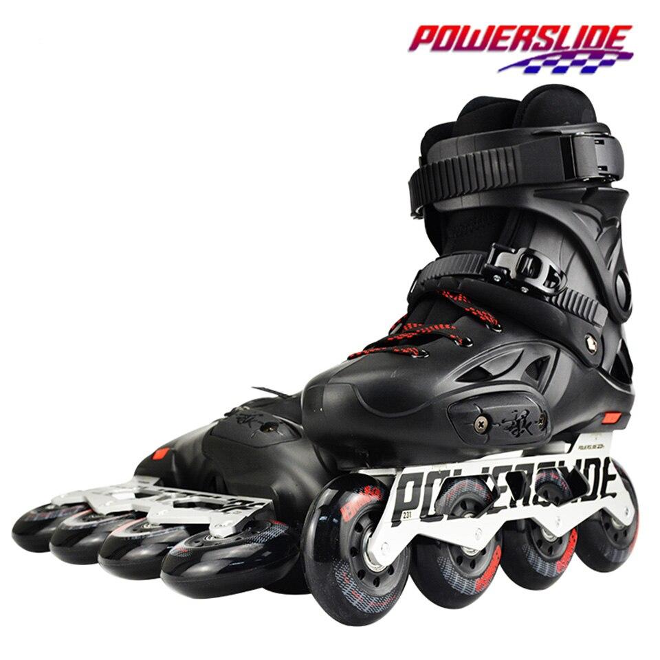100% D'origine 2018 Powerslide Impériale Patins À Roues Alignées Slalom Professionnel Patins À Roues Alignées Rouleau Livraison Chaussures De Patinage Coulissante Patines