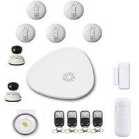 SmartYIBA Wifi Wireless Smart Host Alarm System KIT Smart Home Security Alarm System APP Remote Control IP HD Camera Monitor