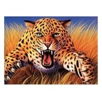 Leopard Needlework Full Diamond Embroidery Round Rhinestone Diamond Painting Cross Stitch Roaring Leopard Animal Painting 73