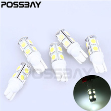 Wit 5 Stks T10 9SMD 5050 Hoge Power Economie Gas Auto interieur Wedge Lampen Parking Tail Backup Corner Signal LED Verlichting bollen(China)