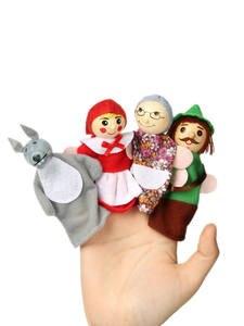 Детские игрушки, животные, семейные пальчиковые куклы, деревянные Мультяшные театральные мягкие куклы, детские развивающие игрушки для дет...