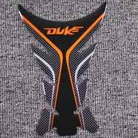 Per KTM Duke 125 200 390 690 990 1290 Moto Sticker Gas Rilievo del Carro Armato Della Protezione Adesivi Moto Decalcomanie Corsa Universale