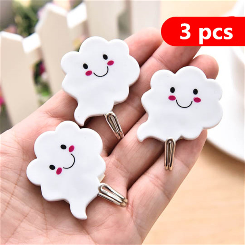 Key Decorative Hooks No Nailless Seamless Hook Kitchen Glue Hook Bathroom Door Behind The Small Hook 0.93