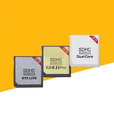 2018New Gold Pro Dual Core RTS LTE Mit Kartenleser Für R4 SD SDHC Carte Karte Werkzeuge