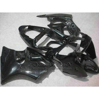 Injection molding fairings for Kawasaki ZX 6R 2000 2001 2002 all glossy black fairing kit Ninja 636 ZX6R 00 02 aftermarket YQ22