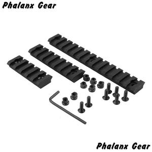 "Image 4 - 3 Sizes Set 5 7 13 Slot 2 ""3"" 5 ""Picatinny Weaver Rail Mount ABS Plastic Keymod Rail Handguard Section for Hunting"