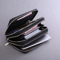 Men Genuine Cow Leather Bag Car Key Wallets Fashion Women Housekeeper Holders Carteira Keychain Zipper Key Case Pouch