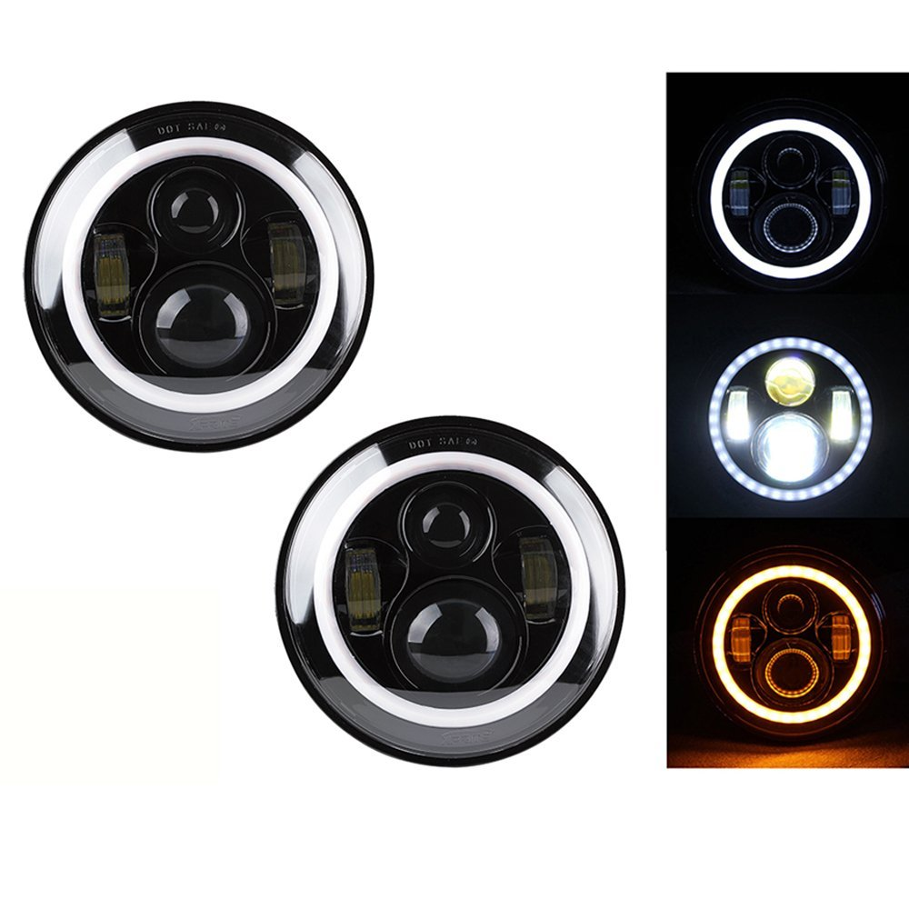 1 Pair Hot Sale 7inch For Lada 4x4 urban Niva 7inch Car LED light with angle eye for JP Wrangler JK TJ CJ electric fuel pump module assembly for rus car lada niva 1700 niva ii 1 7l vaz 4x4 21214 1139009 ty 232