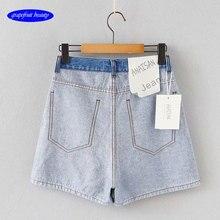 Vintage High Waist  Mini Button sexy Short hot jeanPants Women 2019 loose Style Casual Shorts Jeans Summer Hot Short Pants Women