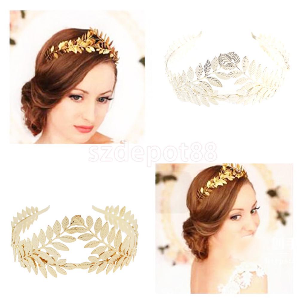 Romantic Boho листьев филиал Свадебная Корона головной убор платье ободок Свадебная вечеринка Красота конкурс лента для волос