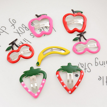 Fruit Hairpin Girls Simple Barrettes Decoration Girl Hair Accessory Kids Clip Accessories Children