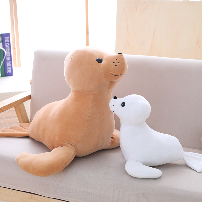 1pc 3560cm 3 Patterns Plush stuffed toy sea lion doll cute simulation fish cushions brinquedos Full PP cotton padding Xmas Gift