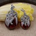 GZ 925 Pingente de Prata 100% Pura Prata Thai S925 Sólido Red Cubic Zircon Cristal MARCASITE Pingentes para Homens Jóias Fazer