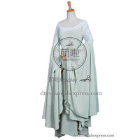 The Lord of the Rings Cosplay Arwen Costume New Green Dress Uniform Outfits Suit Halloween Fashion Party Fast Shipping