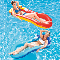 Inflatable Pool Float Giant Red Blue Mesh Swimming Ring Beach Pool Floats Raft Summer Beach Water Fun Toys Swimming Ring