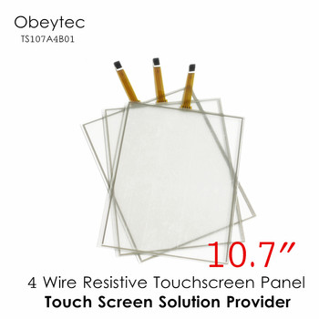 """obeycrop 10.7""""  Four wire resistive Touch Screen, 4:3, Various Types, customized, Active area 216*165.5 mm, TS107A4B01"""