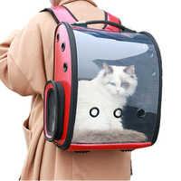 Pet Backpack Portable Cat bag Breathable Space Capsule Travel Portable Transparent Pets Dog Carrier Products 42*35*24cm