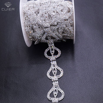 10yards/lot 3cm width rhinestone sewing trimming appliques for wedding dress belt sash decorations glass strass accessories