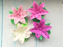 Silicone Mold 3D Lily Flower Design Handmade Soap Artcraft Fondant Cake Silica Gel Candle Decoration