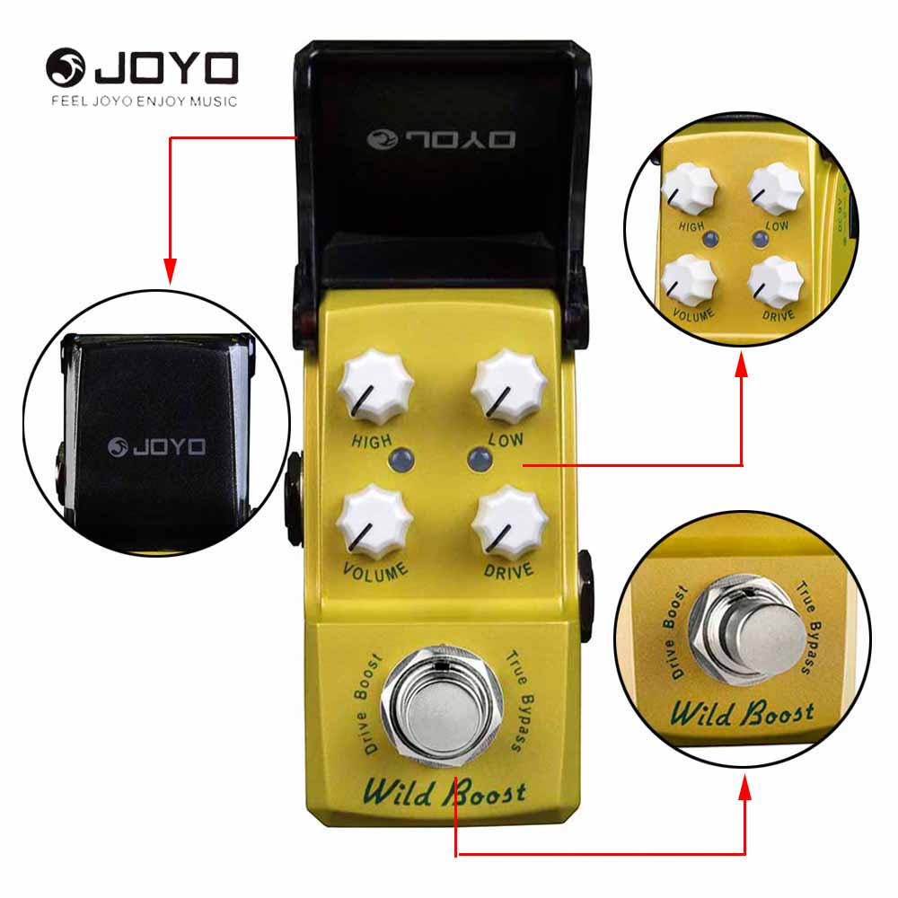 JOYO JF-302 Mini Ironman Series Wild Boost Drive Booster Effect Pedal True Bypass diy booster boost clean guitar effect pedal boost true bypass booster kits fp