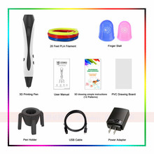 Newest Design 3D Pens With Finger Stall 3D Drawing Pens 1.75mm ABS PLA Optional Different PLA Filament Sets Kids Birthday Gift