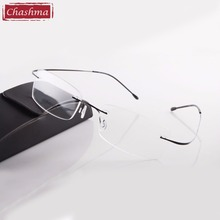 Chashma ร้อนขาย Chashma ยี่ห้อไทเทเนียม Rimless Ultra Light กรอบแว่นตาแฟชั่นแว่นตาผู้หญิงที่มีกรณี