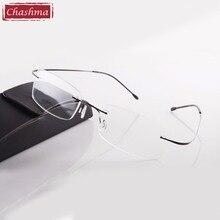 Chashma gafas de sol de titanio para hombre y mujer, anteojos de lectura de marca Chashma sin montura, ultraligeros, a la moda, con funda