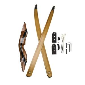 Image 5 - 25 55 ปอนด์ Recurve Bow 58 นิ้ว Longbow การล่าสัตว์อเมริกันโบว์ธนูการแข่งขันยิงอุปกรณ์การฝึกอบรม
