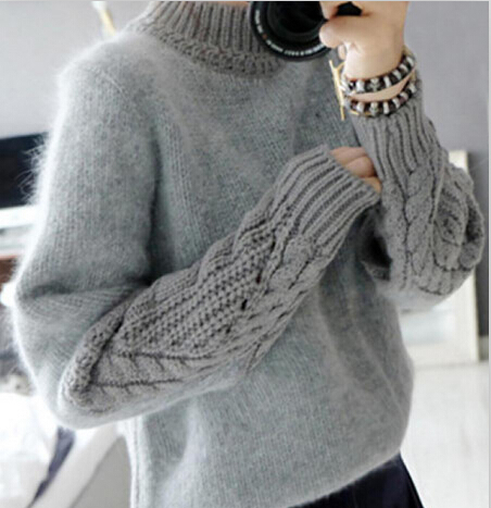 Knitted Girls Winter Sweaters Turtleneck Teenage Warm Clothing 2015
