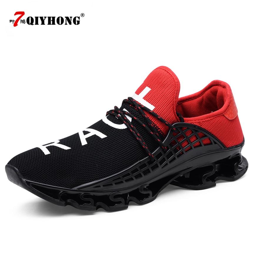 2018 Yeni Nefes QIYHONG Erkekler Sneakers Unisex Çift Ayakkabı Sepeti Femme Sert Giyen Tenis Feminino Erkek Ayakkabı Artı Boyutu