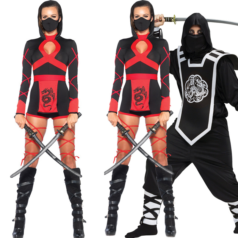 Halloween Costume Shop 65 clever halloween costume ideas for kids goodwill is your halloween costume headquarters Halloween Couple Cosplay Costume Ninja Girl Boy Adult Clothes Party Lovers Warrior Clothes Stage Club Ds Dress Ninja Clothing