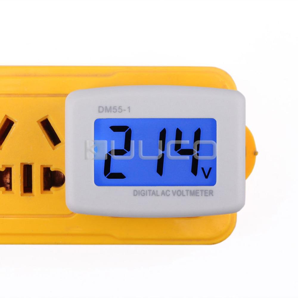 LCD voltmérő AC 80 ~ 300 V feszültségmérő AC 110 V / 220 V - Mérőműszerek - Fénykép 2