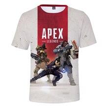 Nuevo 3D camiseta Apex leyendas juego caliente cuello redondo los hombres/las mujeres verano Casual camiseta sudaderas Apex leyendas 3D camiseta