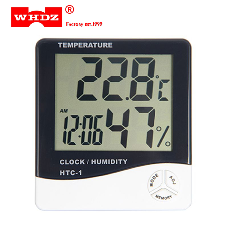 WHDZ HTC-1 Electronic Temperature Humidity Meter Indoor Room LCD Digital Thermometer Hygrometer Weather Station Alarm Clock indoor temperature humidity meter room lcd electronic digital thermometer hygrometer weather station alarm clock htc 1