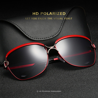 HD011 Fashion Women Cat Eye sunglasses metal frame polarized sunglasses women sun glasses gafas de sol with glasses case