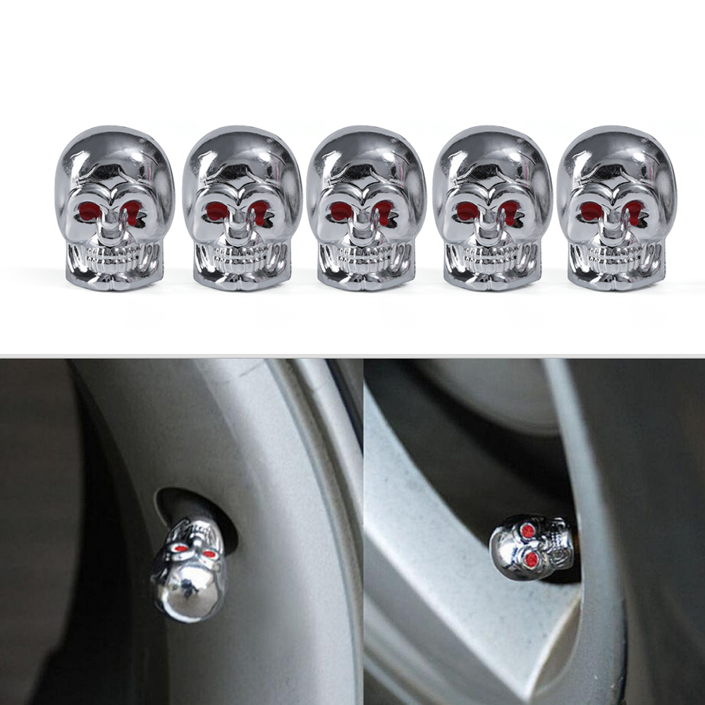 2020 Fashion For Car Truck Bike Valve Caps Red Eyes Evil Skull Tyre Air Valve Stem Dust Caps Wholesale
