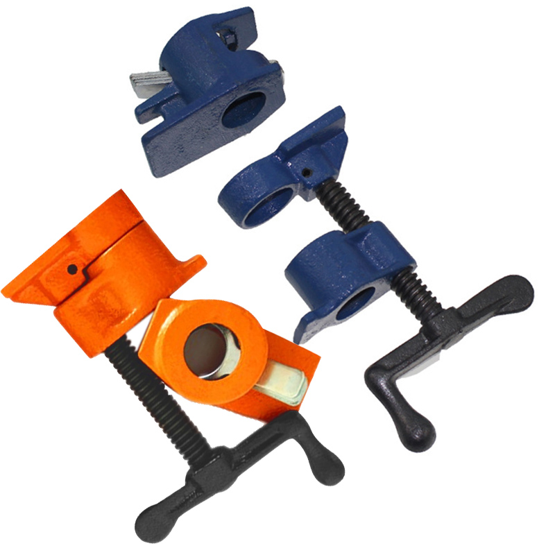 Image 4 - Cast Iron Wood Gluing Pipe Clamp Quick Release 1/2 3/4Inch Clip Set Woodworking Tool JDH99-in Clamps from Home Improvement