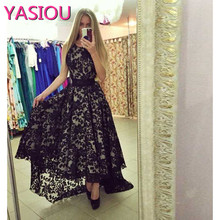 hot deal buy new model designer black lace high low prom dresses 2017 formal evening dresses sexy long prom dresses 2017 pageant dresses