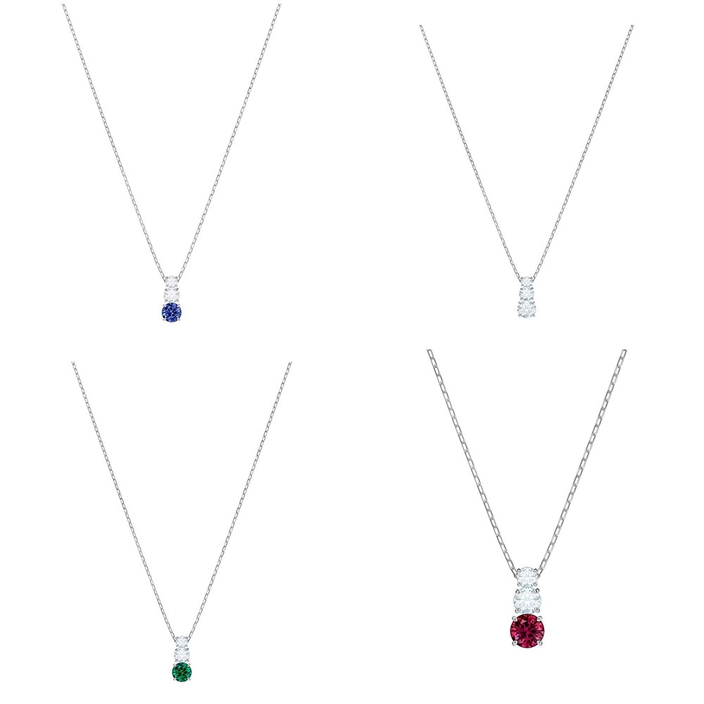 SWA RO 2019 Winter New Attract Trilogy Round Pendant Blue White Green Red Girlfriend Fashion Luxury Gift Free Shipping          SWA RO 2019 Winter New Attract Trilogy Round Pendant Blue White Green Red Girlfriend Fashion Luxury Gift Free Shipping